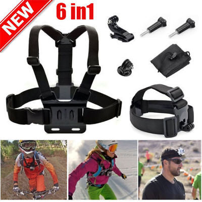 Chest Head Mount Adjustable Belt Strap Band Accessories For GoPro Hero3+ 1 2 3 4