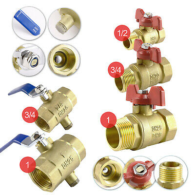 "BRASS LEVER BALL SHUT OFF VALVE COMPRESSION FITTING GAS WATER AIR 1/2"" to 1"""