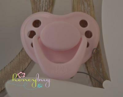 NEW COLOR Honeybug MAGNETIC PACIFIER reborn baby doll Sweetheart pastel PINK