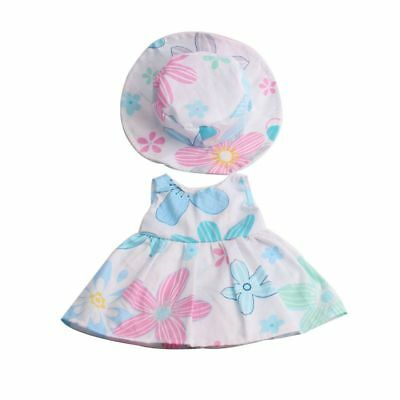 "Stylish Clothes Outfit for 18"" American Girl Zapf Baby Born Dolls Dress Hat"