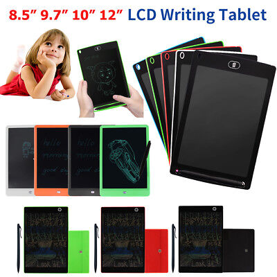 "8.5-12"" Electronic Digital LCD eWriter Tablet Writing Pad Drawing Graphics Board"