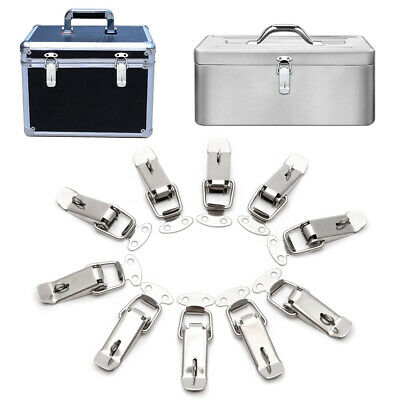 Case Box Stainless Steel Spring Loaded Draw Toggle Latch Clamp Clip Set