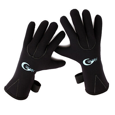 3mm Neoprene Gloves Kayaking Sailing Diving For Adults Kids Size XXXS-XL Black
