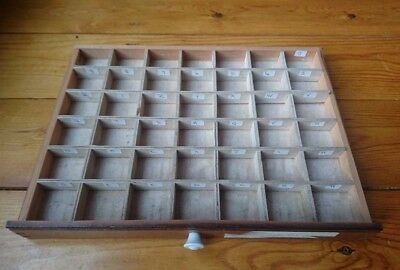Small Vintage Printers Type Set Wood Tray/ Letterpress/ Display Drawer £25.