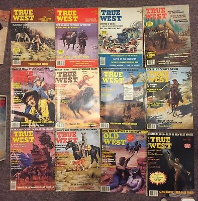 TRUE WEST Vintage Cowboy magazine collection of 52 copies HTF NR