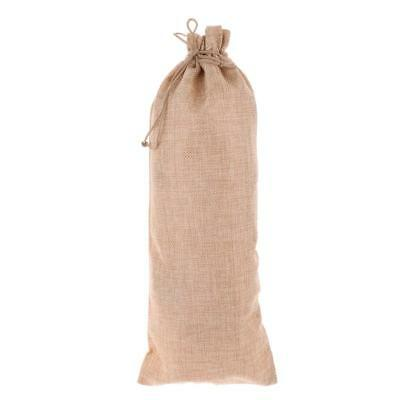 Rustic Burlap Wine Bottle Cover Bags Wedding Christmas Gift Wrap Home Party