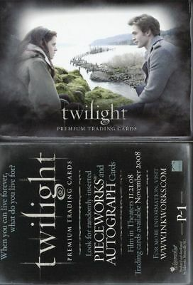 Twilight Movie Promo Card P-1 by Inkworks (Mint Condition)