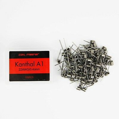 Pre-built Kanthal A1 Wire (100 pieces) by Coil Master - 0.4 ohms