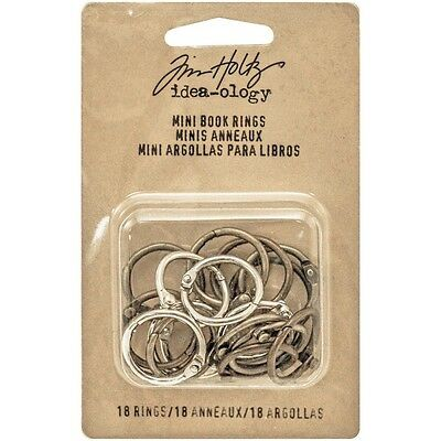 "TH - IdeaOlogy Mini Book Rings .75"" 18/Pkg"