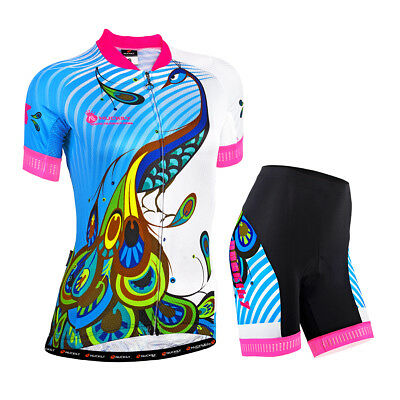 High Quality Girl's Cycling Jersey + Short Pants - Camouflage