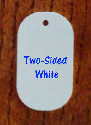 2 Sided White Gloss Aluminum Dye Sublimation Dog Tag Blanks - 50 Pieces