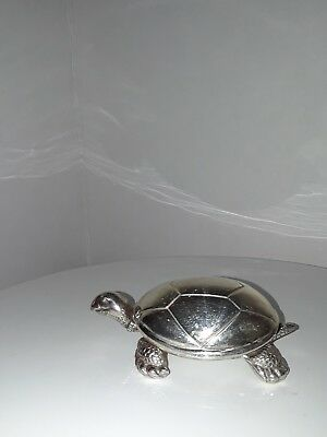 Reed & Barton Silver Color Tortoise Turtle Music Box Baby song
