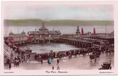 DUNOON  The Pier Period Costume Caledonia Series Argyle & Bute Vintage Postcard
