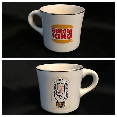 Rare Vtg Burger King Coffee Mug Cup