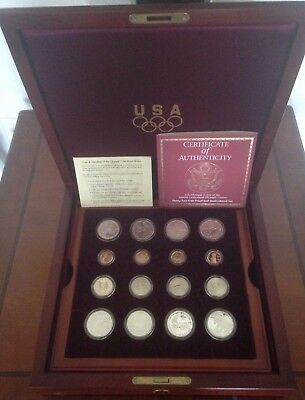 1995-1996US Atlanta Olympic Games 32-Gold/Silver Coin Proof UNC Complete-Set