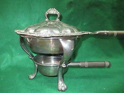 4 pc Gorham Silver Soldered #01005 Chafing Dish with Covered Dish Pan #1755/I4