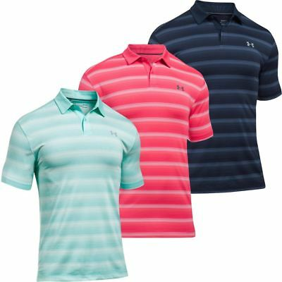 Under Armour CoolSwitch Bermuda Stripe Polo Mens Golf Performance Polo Shirt