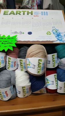 Katia Earth Yarn Yarn Merino wool and polyester made with plastic bottles