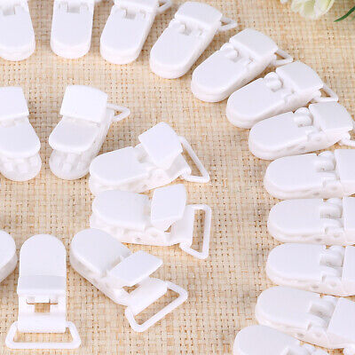 Baby Dummy Pacifier Soother Nipple Chain Clip Buckle Holder 50pcs