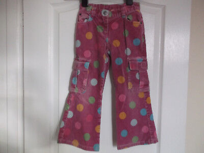 Girls Mini Boden Spotted Winter Cord Jeans age 4-5 years