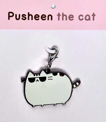 """PUSHEEN the Cat """"Cool Cat"""" with Sunglasses Keychain / Backpack Charm >NEW<"""