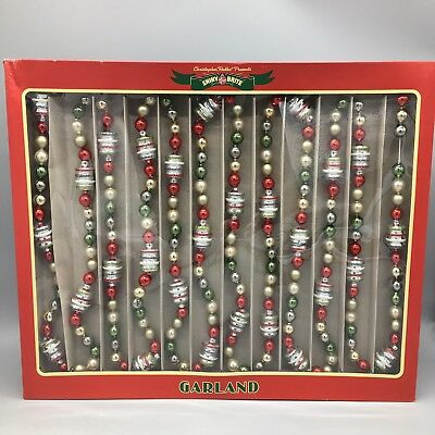 Christopher Radko Shiny Brite Figural Glass Christmas Garland 14 Feet 2017 NEW