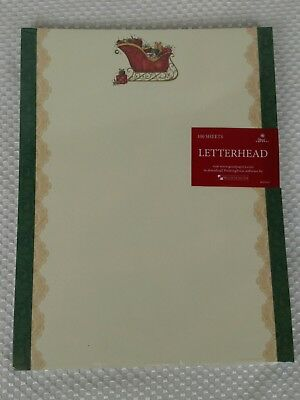 """Great Papers! """"Filled Sleigh"""" Christmas Holiday Letterhead 100 sheets"""