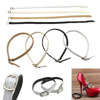 NEW Colored Leather Shoe Straps Band For Holding Loose High Heels Shoes UK