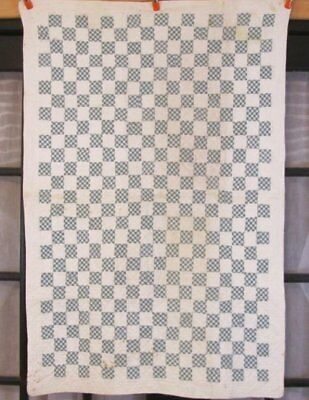 Authentic c 1930s PA Checkerboard QUILT Crib Vintage   Lancaster Co Mennonite