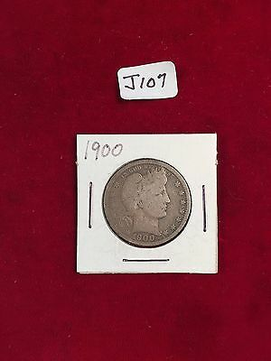1900 U.S. 90% Silver Barber Quarter Well Circulated Condition J107