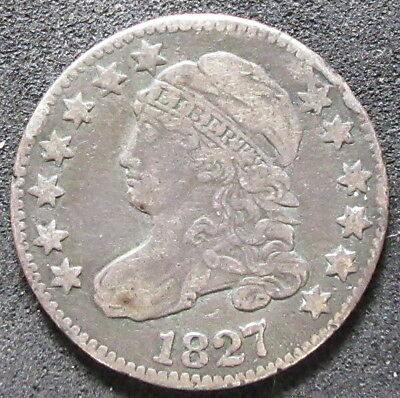 1827 Capped Bust Pointed Top 1 Dime Coin