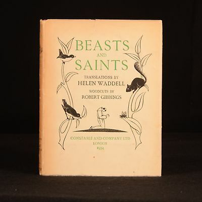 1934 Beasts and Saints Helen Waddell Translation Robert Gibbings Dustwrapper Ant
