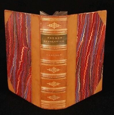 1888 3vol in 1 FRENCH Revolution HISTORY Carlyle