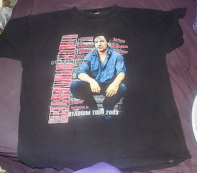 Bruce Springsteen & E Street Tour Stadium Tour 2003   ~ T Shirt Men's Adult Xl