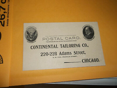 Continental Tailoring Co. Postal Card From 220-228 Adams Street Chicago