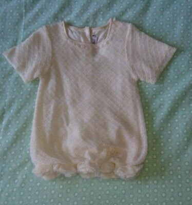 Christian Dior Ivory Short Sleeved Knitted Top- Excellent Condition! Size 6A