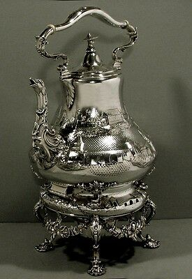 "Tiffany Silver Tea Set  c1845    ""CHINESE MANNER""     * Was $7200  -  $5700 *"