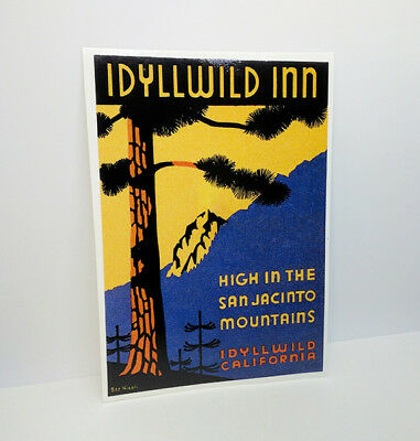 Idyllwild Inn California Vintage Style Travel DECAL / Vinyl STICKER