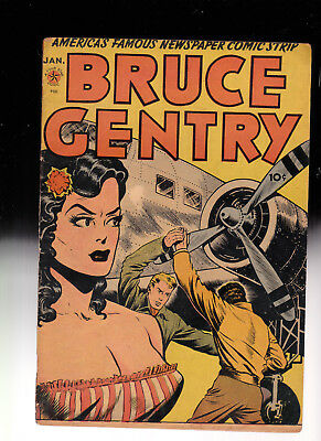 Bruce Gentry 1 Headlight GGA Golden Age  cover glued cover to comics