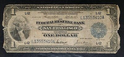 1918 National Currency $1 Federal Reserve Bank of San Francisco Note