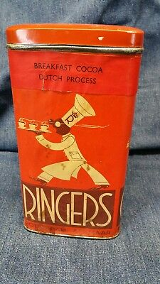 Vintage ** Ringers * Holland Dutch Cocoa Metal Tin Can Container