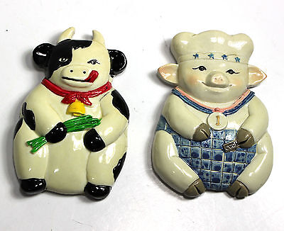 Cow & Pig Kitchen magnets