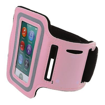 Sport Armband Fallhalter Running Arm Band fuer iPod nano 7,Rosa J4
