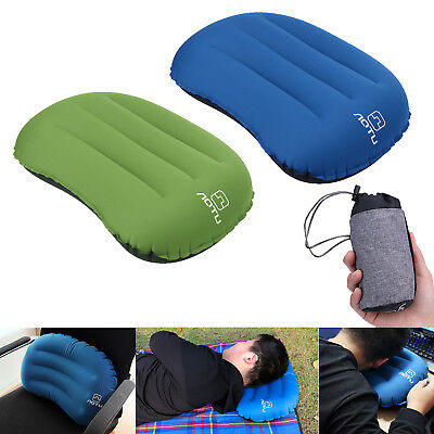 Outdoor Travel Portable Inflatable Air Cushion Head Pillow Car Head Rest Hiking
