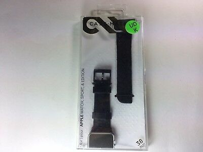 Case-Mate - Scaled Smartwatch Band for Apple Watch 38mm - Black