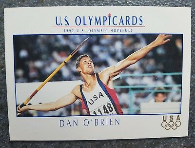 US Olymp Cards Dan O'Brien OS 1992 Nr. 89 Trading Card