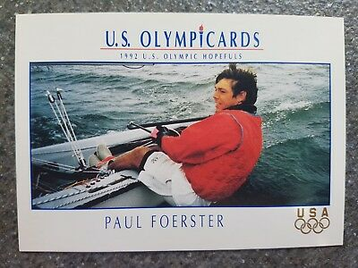US Olymp Cards Paul Förster OS 1992 Nr. 60 Trading Card