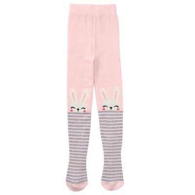 NWT Gymboree Fluffy Friends Bunny Baby Girls Pink Tights 0-3 3-6 Months Easter