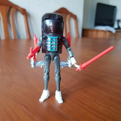 Micronauts Galactic Defender, incomplete but with both weapons and hood jet pack