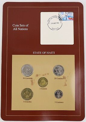 State of Haiti - Coin Sets of All Nations Franklin Mint Postal Panel